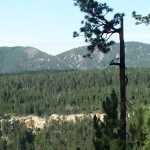 This photo graph was taken in the Black Hills of South Dakota. The image shows mountains and trees. #blackhills