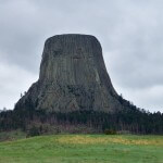 This photo graph was taken near Devils Tower Woming. # Devils Tower