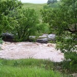 This photograph shows the flash floods of the Black Hills in South Dakota. #creek