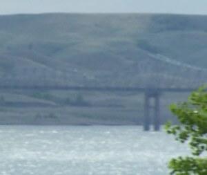 This photo was taken at the lake Oahe Bridge near Withlock Bay South Daktoa. #Oahe